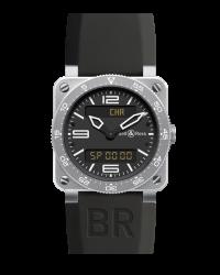 Bell & Ross   Quartz Men's Watch, Stainless Steel, Black Dial, BR0392-AVIA-ST