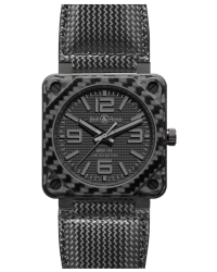Bell & Ross Aviation BR01 Limited Edition  Automatic Men's Watch, Carbon Fiber, Black Dial, BR0192-CA-FIBER-PH