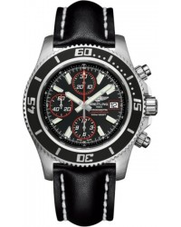 Breitling Superocean Chronograph II  Chronograph Automatic Men's Watch, Stainless Steel, Black Dial, A1334102.BA81.435X