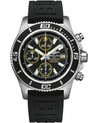 Breitling Superocean Chronograph II  Chronograph Automatic Men's Watch, Stainless Steel, Black Dial, A1334102.BA82.152S
