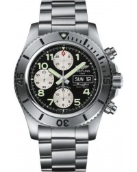 Breitling Superocean Chronograph  Chronograph Automatic Men's Watch, Stainless Steel, Black Dial, A13341C3.BD19.162A