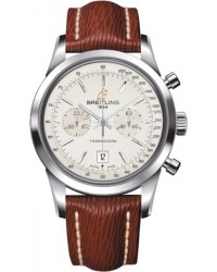 Breitling Transocean Chronograph 38  Automatic Men's Watch, Stainless Steel, Silver Dial, A4131012.G757.221X