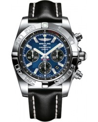 Breitling Chronomat 44  Chronograph Automatic Men's Watch, Stainless Steel, Blue Dial, AB011012.C789.435X