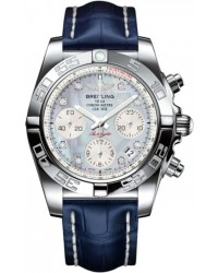 Breitling Chronomat 41  Chronograph Automatic Men's Watch, Stainless Steel, Mother Of Pearl & Diamonds Dial, AB014012.G712.719P