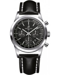 Breitling Transocean Chronograph  Automatic Men's Watch, Stainless Steel, Black Dial, AB015212.BA99.435X