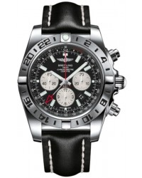Breitling Chronomat GMT  Chronograph Automatic Men's Watch, Stainless Steel, Black Dial, AB0413B9.BD17.441X