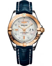 Breitling Galactic 41  Automatic Men's Watch, Steel & 18K Rose Gold, Mother Of Pearl & Diamonds Dial, C49350L2.A706.719P