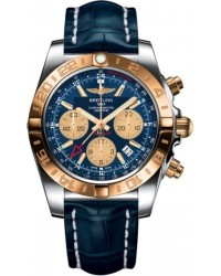 Breitling Chronomat 44 GMT  Chronograph Automatic Men's Watch, Steel & 18K Rose Gold, Blue Dial, CB042012.C858.732P