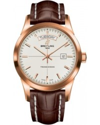Breitling Transocean  Automatic Men's Watch, 18K Rose Gold, Silver Dial, R4531012.G752.740P