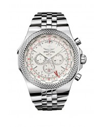 Breitling Bentley GMT  Chronograph Automatic XL Men's Watch, Stainless Steel, White Dial, A4736212.G657.998A