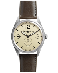 Bell & Ross Vintage  Automatic Men's Watch, Stainless Steel, Beige Dial, BRV123-BEI-ST/SCA