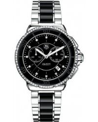 Tag Heuer Formula 1  Chronograph Quartz Women's Watch, Stainless Steel, Black & Diamonds Dial, CAH1212.BA0862