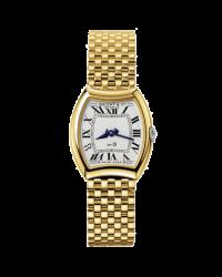 Bedat No 3  Quartz Women's Watch, 18K Yellow Gold, Silver Dial, 304.303.100