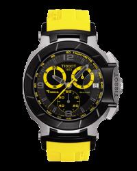 Tissot T Race  Chronograph Quartz Men's Watch, Stainless Steel, Black Dial, T048.417.27.057.03