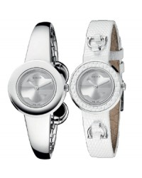 Gucci U-Play  Quartz Women's Watch, Stainless Steel, Silver Dial, YA129501