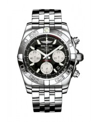 Breitling Chronomat 41  Chronograph Automatic Men's Watch, Stainless Steel, Black Dial, AB014012.BA52.378A