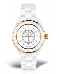 Chanel J12 Jewelry  Quartz Women's Watch, Ceramic, White Dial, H2180