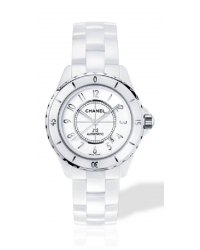 Chanel J12 Classic  Automatic Unisex Watch, Ceramic, White Dial, H2981