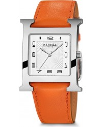 Hermes H Hour  Quartz Women's Watch, Stainless Steel, White Dial, 036834WW00