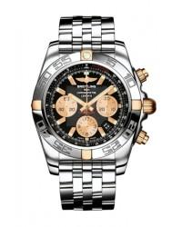 Breitling Chronomat 44  Chronograph Automatic Men's Watch, 18K Rose Gold, Black Dial, IB011012.B968.375A