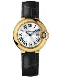 Cartier Ballon Bleu  Quartz Women's Watch, 18K Yellow Gold, Silver Dial, W6900156