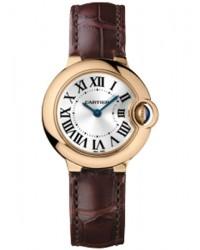 Cartier Ballon Bleu  Quartz Women's Watch, 18K Rose Gold, Silver Dial, W6900256