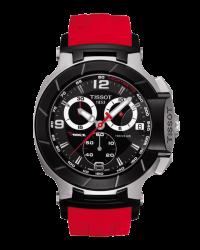 Tissot T Race  Chronograph Quartz Men's Watch, Stainless Steel, Black Dial, T048.417.27.057.01