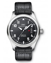 IWC Pilots  Automatic Men's Watch, Stainless Steel, Black Dial, IW326501