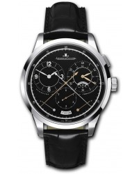 Jaeger Lecoultre Duometre  Chronograph Automatic Men's Watch, 18K White Gold, Black Dial, 6013470
