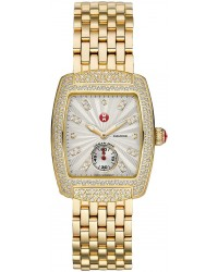 Michele Urban  Quartz Women's Watch, Gold Plated, White & Diamonds Dial, MWW02A000565