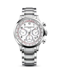 Baume & Mercier Capeland  Chronograph Automatic Men's Watch, Stainless Steel, White Dial, MOA10061