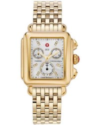 Michele Deco  Quartz Women's Watch, Gold Plated, White Dial, MWW06P000016