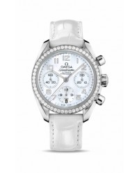 Omega Speedmaster  Chronograph Automatic Women's Watch, Stainless Steel, White Mother Of Pearl Dial, 324.18.38.40.05.001