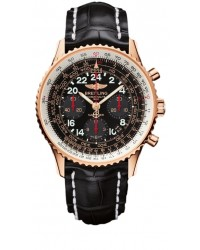 Breitling Navitimer Cosmonaute Limited Edition  Chronograph Automatic Men's Watch, 18K Rose Gold, Black Dial, RB0210B5.BC19.743P