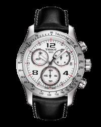 Tissot V8  Chronograph Quartz Men's Watch, Stainless Steel, Silver Dial, T039.417.16.037.02