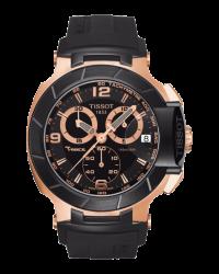 Tissot T Race  Chronograph Quartz Men's Watch, Stainless Steel, Black Dial, T048.417.27.057.06
