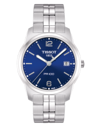 Tissot PR100  Quartz Men's Watch, Stainless Steel, Blue Dial, T049.410.11.047.01