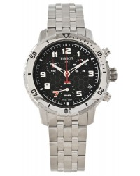 Tissot PRS200  Chronograph Quartz Men's Watch, Stainless Steel, Black Dial, T067.417.11.052.00