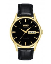 Tissot Visodate  Automatic Men's Watch, Gold Plated, Black Dial, T019.430.36.051.01