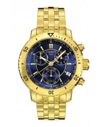 Tissot PRS200  Chronograph Quartz Men's Watch, Gold Plated, Blue Dial, T067.417.33.041.00
