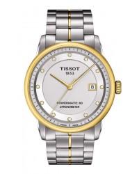 Tissot T-Classic  Automatic Men's Watch, Steel & Gold Tone, Silver & Diamonds Dial, T086.408.22.036.00