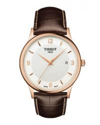 Tissot T-Gold  Quartz Men's Watch, Steel & 18K Rose Gold, White Dial, T914.410.46.017.00