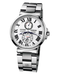 Ulysse Nardin Marine Chronometer  Automatic Men's Watch, Stainless Steel, White Dial, 263-67-7/40