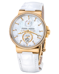 Ulysse Nardin Marine Chronometer  Automatic Men's Watch, 18K Rose Gold, Mother Of Pearl Dial, 266-66B/991