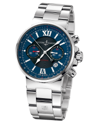 Ulysse Nardin Marine Chronometer  Automatic Men's Watch, Stainless Steel, Blue Dial, 353-66-7/323