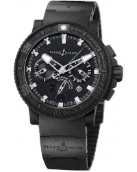 Ulysse Nardin Maxi Marine Diver  Automatic Men's Watch, Rubber & Stainless Steel, Black Dial, 353-92-3C