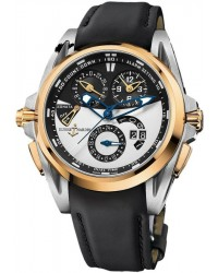 Ulysse Nardin Nifty / Functional  Automatic Men's Watch, Titanium & 18K Rose Gold, Silver Dial, 675-01-4