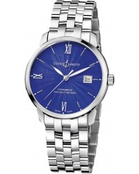 Ulysse Nardin Classical  Automatic Men's Watch, Stainless Steel, Blue Dial, 8153-111-7/E3
