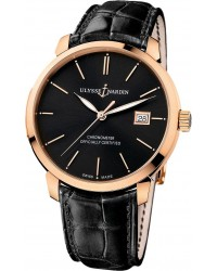 Ulysse Nardin Classical  Automatic Men's Watch, 18K Rose Gold, Black Dial, 8156-111-2/92