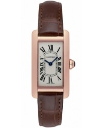 Cartier Tank Americaine  Quartz Women's Watch, 18K Rose Gold, Silver Dial, W2607456